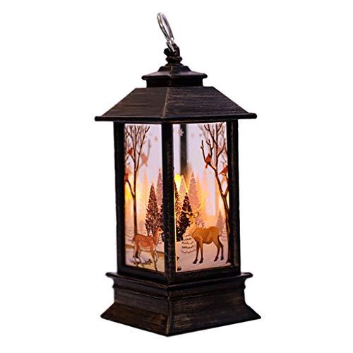 Wanshop Weihnachten LED Tee Licht Kerzen Für Weihnachten Teil Außenseite Beleuchtet elektrische Kerzen Flamme Lichterkette (A)