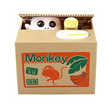 Resulzon Stealing Coin Monkey Box – Piggy Bank – Monkey – English Speaking – Great Gift for Any Child    Box image may vary