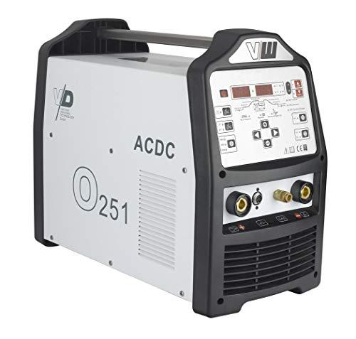 WIG Schweißgerät AC DC mit Plasmaschneider sowie Elektrodenschweißfunktion   200 Ampere - HF Zündung - Pulsfunktion 2 und 4 Takt Jobspeicher von Vector Welding