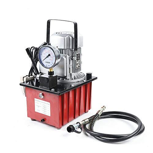 WUPYI2018 Hydraulikpumpe 700 Bar Elektro mit manueller Hydraulikpumpe, 750 W, elektrisches Ventil