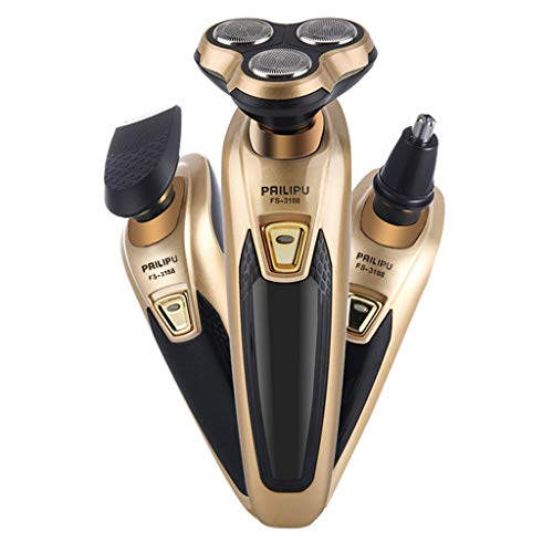 BOVERTY Electric Shavers for Men With 3 Attachments, Rechargeable Beard, Mustache, Hair & Nose Hair Trimmer for Detailing & Grooming