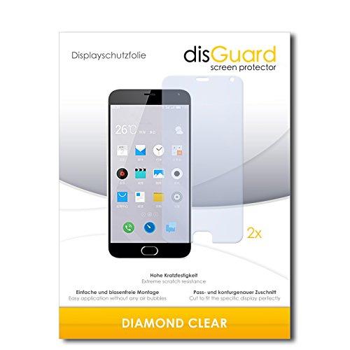 disGuard 2 x Bildschirmschutzfolie Meizu M2 Note Schutzfolie Folie DiamondClear unsichtbar