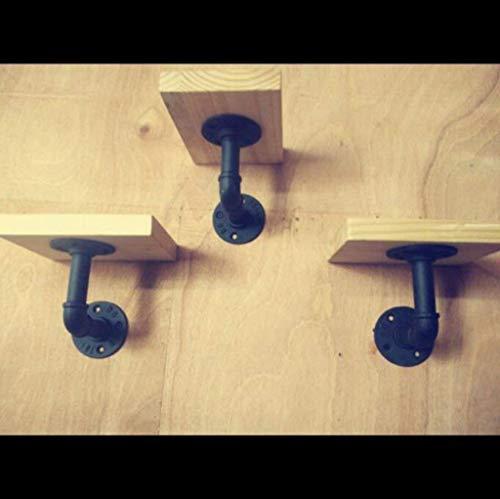 PIVFEDQX Industrielle Wand Eisen Wanddekoration/Shisha Wandregal/Massivholz Wand Word Shelf Stand
