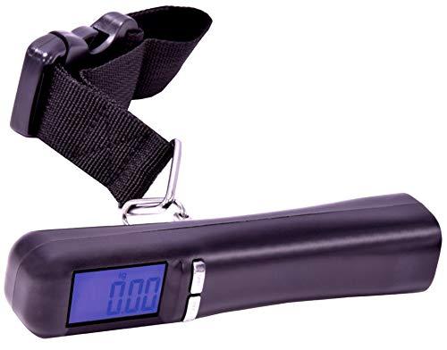 RCE- Bilancia Digitale Pesa Valigia Bagali Borse portatile fino a 50kg con 4 scale di misura g/kg/lb/oz funzione tara e display retroilluminato
