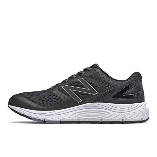 New Balance Men's 840 V4 Running Shoe, Black/White, 10.5 Wide