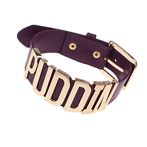 Udekit Ajustable Prpura Cinturn Oro Puddin Ahogador Collar para Mujeres y Nias (Alrededor de 1.2 Pulgadas de Ancho)