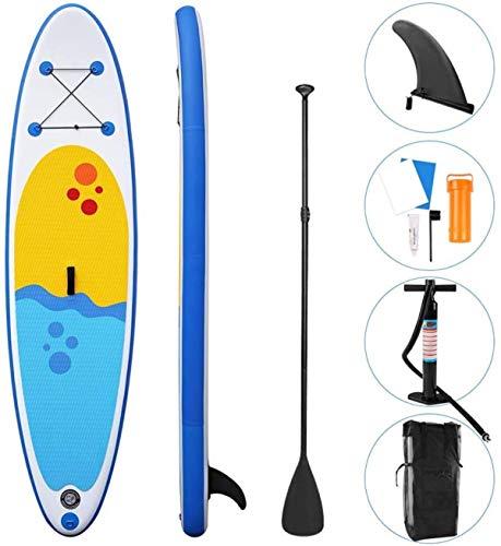 Tabla Paddle Surf Hinchable, Paddle Surf Hinchable Kayak con Aleta Inferior, Plataforma Antideslizante, Paleta Ajustable, Bomba Manual Y Mochila De Transporte