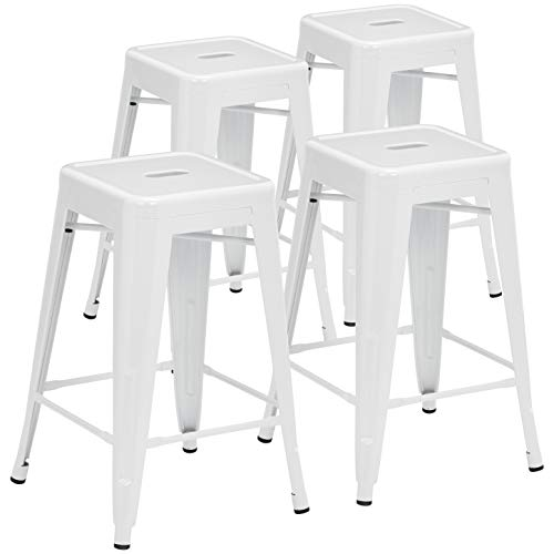 Pioneer Square BT3503-24-WH Counter Stool, 24', White