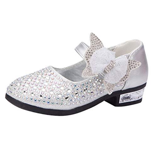 Berimaterry Zapatos de Vestir para Niñas Primavera Invierno Elegantes Suela Blanda Princesa...