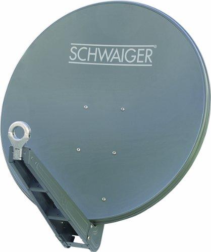 Schwaiger SPI085PA011 Aluminium Offset-Antenne 85 cm, Premiumklasse, anthrazit