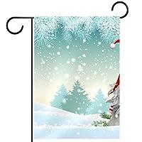 ガーデンヤードフラッグ両面 /28x40inch/ ポリエステルウェルカムハウス旗バナー,雪