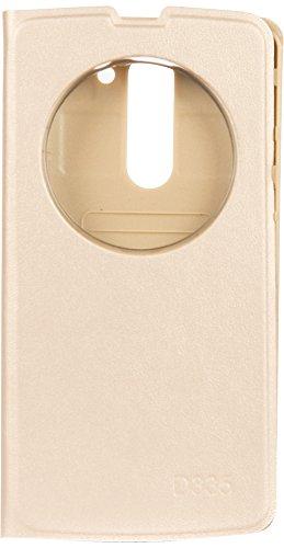 Videotronix Generic Quick Circle Flip Case Cover for LG L Bello D335 (Gold)