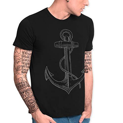 VIENTO Old School Anchor Camiseta para Hombre
