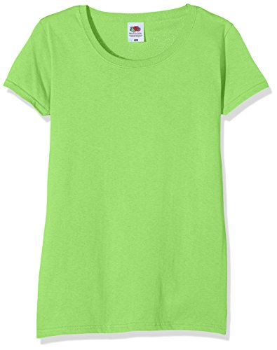 Fruit of the Loom Ss129m, Camiseta Para Mujer, Verde (Lime), S (Talla fabricante 10)