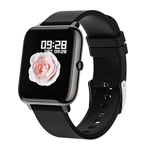 Smartwatch BOZLUN Reloj Inteligente Impermeable IP67 para Hombre Mujer,8 Modos de Deportes y GPS,hasta 15 días de batería, 1.4 Inch Pantalla Táctil Smartwatch para Android iOS(Color Negro)