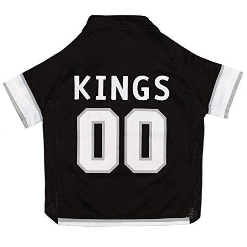 NHL Los Angeles Kings Jersey for Dogs & Cats, Large. - Let Your Pet Be A Real NHL Fan!