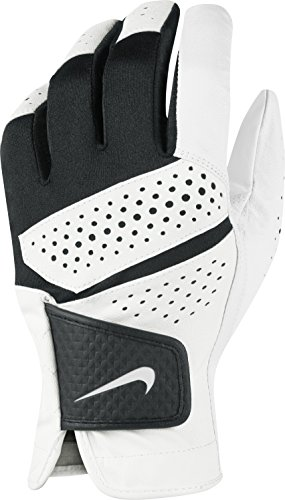 Nike 2016 Tech Extreme VI All Weather Golf Gloves Leather Palm Mens Left Hand White/Black Large