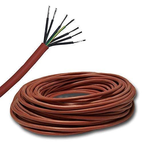 5 Meter Silikonkabel z.B. für Ihre Sauna - 5 m - SIHF 7x1,5 mm² (7x1,5mm2)