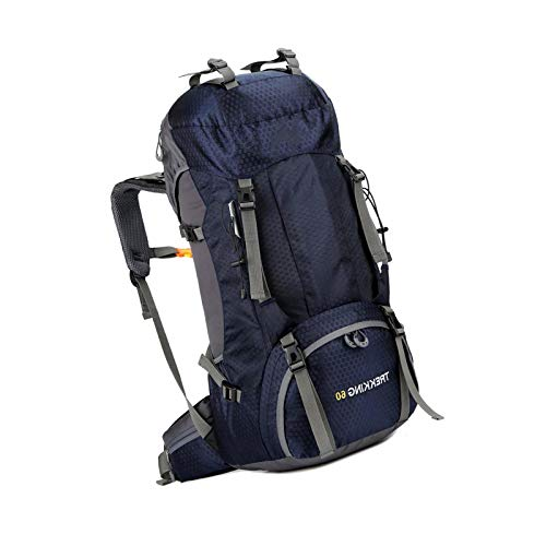 60l Waterproof Ultra Packable Climbing Fishing Traveling Backpack Navy Blue