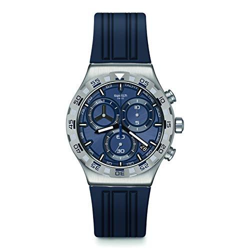 Swatch Correa de caucho de cuarzo suizo, azul, 21 reloj casual (modelo: YVS473)