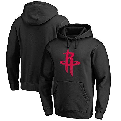 Sudadera para Hombre Fans De La NBA Jersey Houston Rockets Sudadera con Capucha Negra con Cordón Manga Larga Jersey Cómodo Casual S-XXXL Black-L