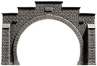 Noch 34852 Tunnel Portal Double Gray N Scale  Model Kit
