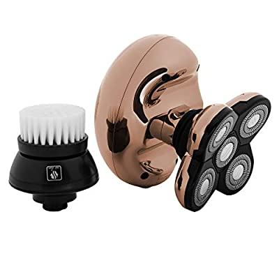 Skull Shaver Butterfly Kiss Womens Electric Wet and Dry Shaver for Head and Body - Ladies Electric Razor for Arms, Legs and Bikini (USB Charging Cable) (Rose Gold) from Skull Shaver