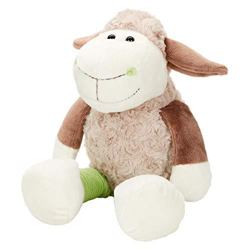 Minifeet Schaf Elke – Kuscheltier Plüschtier Stofftier Spielzeug – wollig weich in Cordoptik– Geschenk für Kinder Baby Mädchen Junge Geburtstag Geburt Taufe Einschulung   23cm