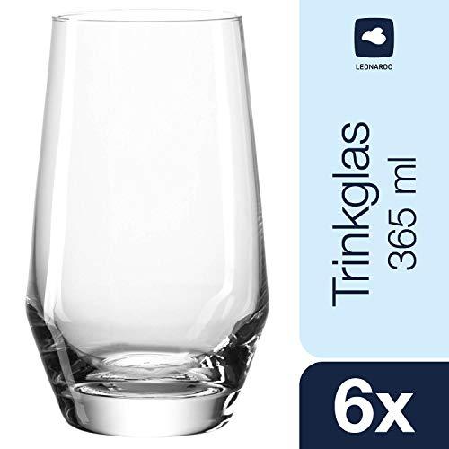 Leonardo Puccini Longdrink-Glas, 6-er Set, 365 ml, spülmaschinenfest, Teqton-Kristallglas, 069558