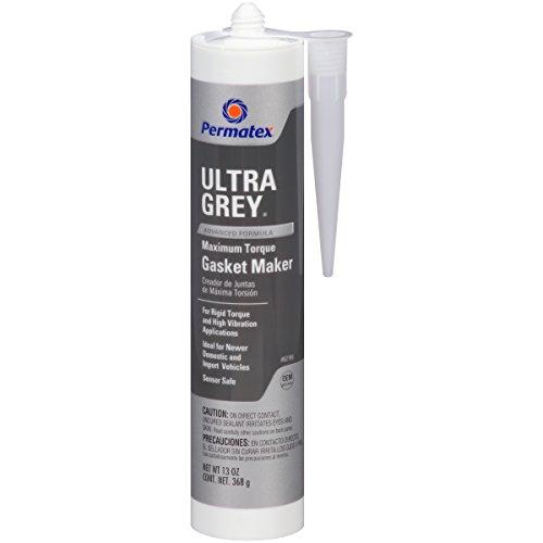 Permatex 82195 Ultra Grey Rigid High-Torque RTV Silicone Gasket Maker, 13 oz.