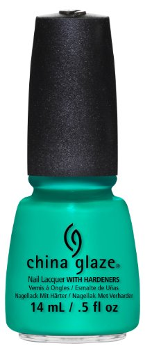 China Glaze Nail Lacquer with Hardner - Lacquered Effect - Keepin It Teal, 1 x 14 ml