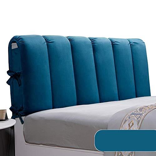 QIANCHENG-Cushion Cabeceros De Cama Cojines Respaldo Cintura Almohadilla Paño Lavable Estuche Blando Dormitorio casero embalado Almohada Cabecero, 6 Colores (Color : #4, Size : 120x60cm)