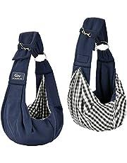 CUBY Perro Pequeño Ajustable Portador Bolsa para Mascotas Bolsa de Transporte Suave y Cómoda,Bolso Perro Con Bolsillo Adicional -- Azul