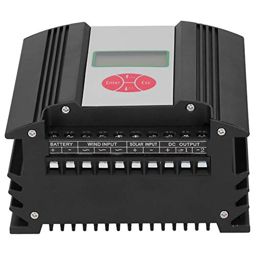 Contrôleur de charge solaire éolienne, 12V 300W / 150W avec écran LCD Contrôleur intelligent d'énergie éolienne adapté aux systèmes de réverbères hybrides éoliens/solaires