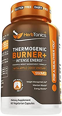 Thermogenic Fat Burner - Weight Loss Supplement for Women and Men - 60 Natural Pills