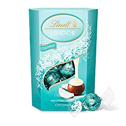 Lindt Lindor Coconut Truffles – smooth melting milk chocolate balls with an irresistibly smooth coconut filling, approximate 16 balls, 200 g gift box Melt into a moment of bliss with Lindor milk coconut chocolate balls Made with the finest ingredient...