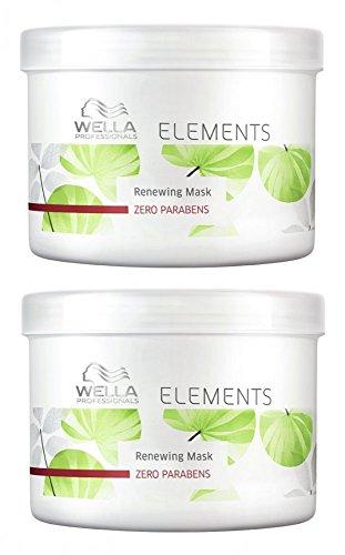 Wella Elements Maske 2 x 500 ml Parabenfreie Kur für trockenes-sprödes Haar Professionals Care