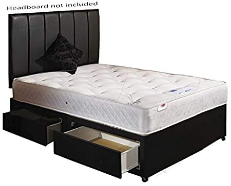 Single 3ft Divan Bed 2 Drawer with Orthopaedic Mattress.
