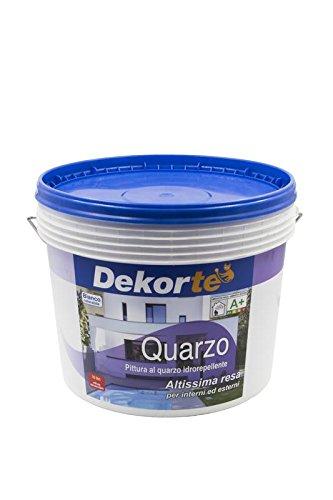 gdm-quarzo, pintura al cuarzo impermeable para exterior, dekortè), color blanco, 10L