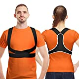 AVIDDA Posture Corrector for Women Men Kids, The Latest Ultra Thin and Light Upper Back Support Brace for Clavicle, Neck, Back and Shoulder Pain Relief L