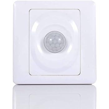 Lispeed PIR Interrupteur détecteur de Mouvement Automatique avec détecteur de Mouvement Capteur de lumière du Jour avec détecteur de Mouvement
