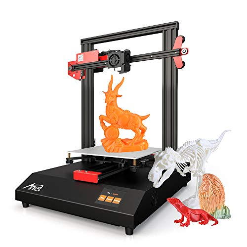 Anet ET4 - Estructura de marco de metal para impresora 3D, volumen 220 x 220 x 250 cm, pantalla táctil de 2,8 pulgadas, tarjeta TF climatizada de 8 G y soporte de filamentos de patrón PLA de 10 m