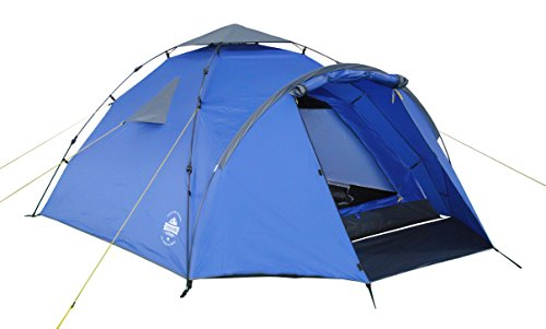 Lumaland Tienda de campaña Familiar Light Pop Up 3 Personas Camping Acampada Festival 220 x 220 x 130 cm Azul