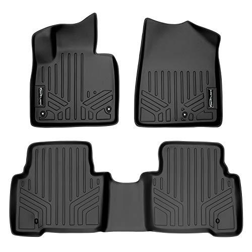 MAXLINER Floor Mats 2 Row Liner Set Black for 2013-2018 Hyundai Santa Fe