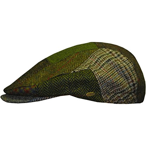Men's Irish Flat Cap, Patch Cap Style, Woven in Ireland, 100% Irish Wool Cap, XL