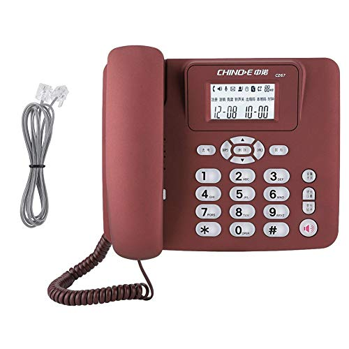 Telefoon, Draadloze thuistelefoon, Vaste telefoon Bureautelefoon, Mobile Home Office Bureautelefoon, Plug and Play, Ingebouwd knoplampje(Rood)