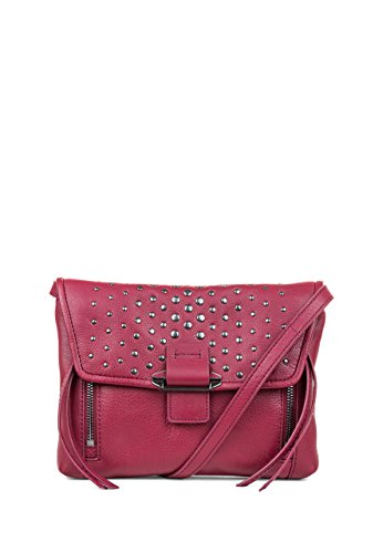 Kooba Handbags Reed Mini Convertible Crossbody, Raspberry WITH GUNMETAL Studded