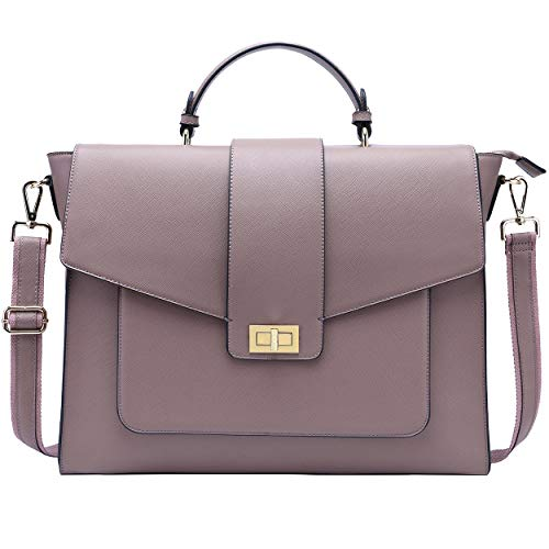 17 Inch Messenger Bag for Women,Professional Briefacse Work Bag Spacious Computer Bags for Work Business Travel,purple-17Inch