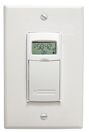 Timer, Elect, Wall Switch, 120-277V, 20A, WH