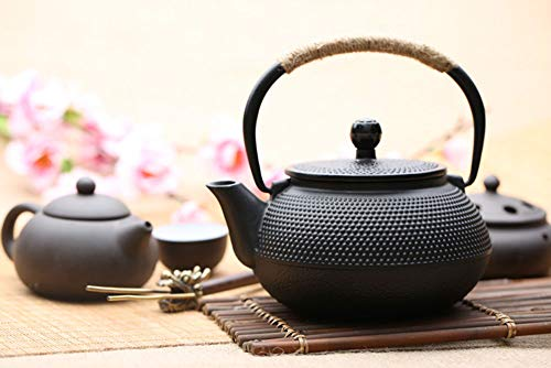 HwaGui - Cast Iron Teapot with Stainless Steel Infuser,27 Ounce